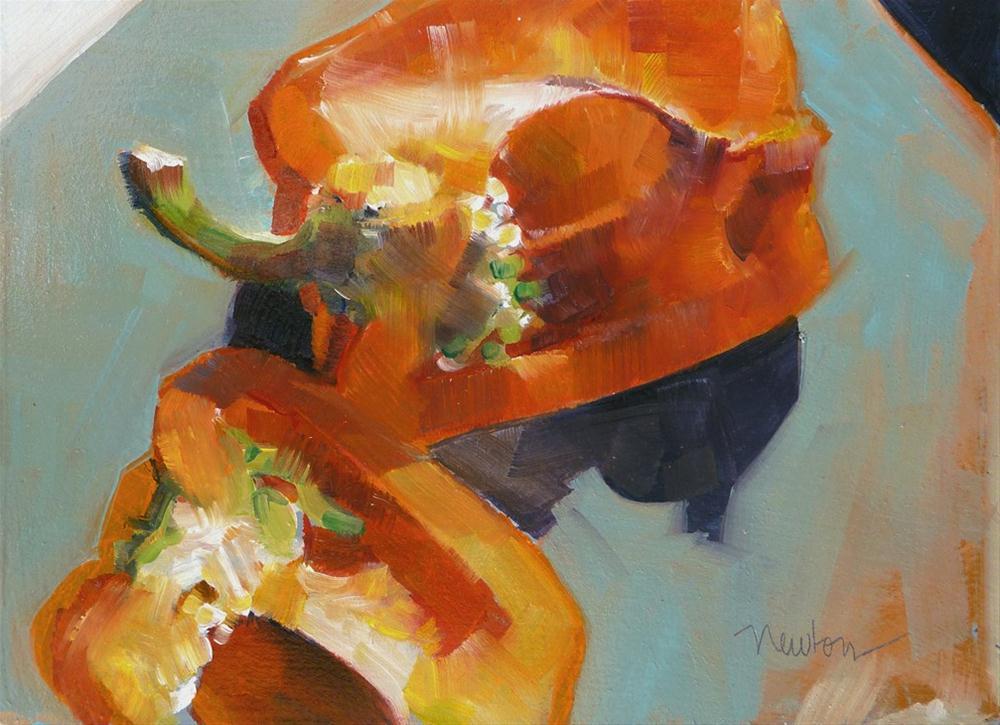 """""""Pepper"""" original fine art by Barbara Benedetti Newton"""