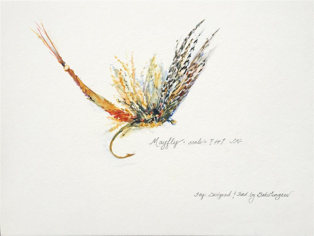 """""""Mayfly"""" original fine art by Jean Krueger"""