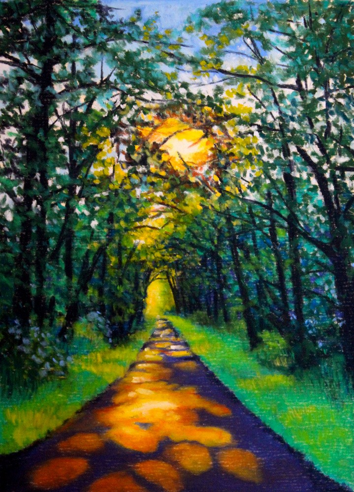 """Into the Woods"" original fine art by Jill Bates"
