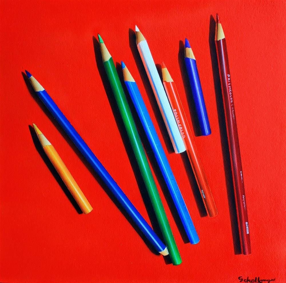 """Pencil Me In"" original fine art by Fred Schollmeyer"