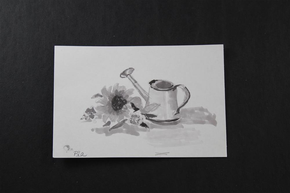 """Summer Day, sketch"" original fine art by Maria Reed"