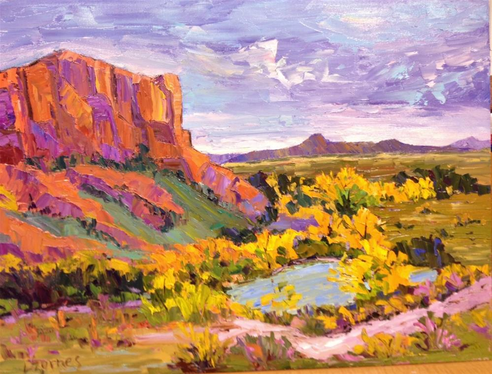 """Desert Pool"" original fine art by Liz Zornes"