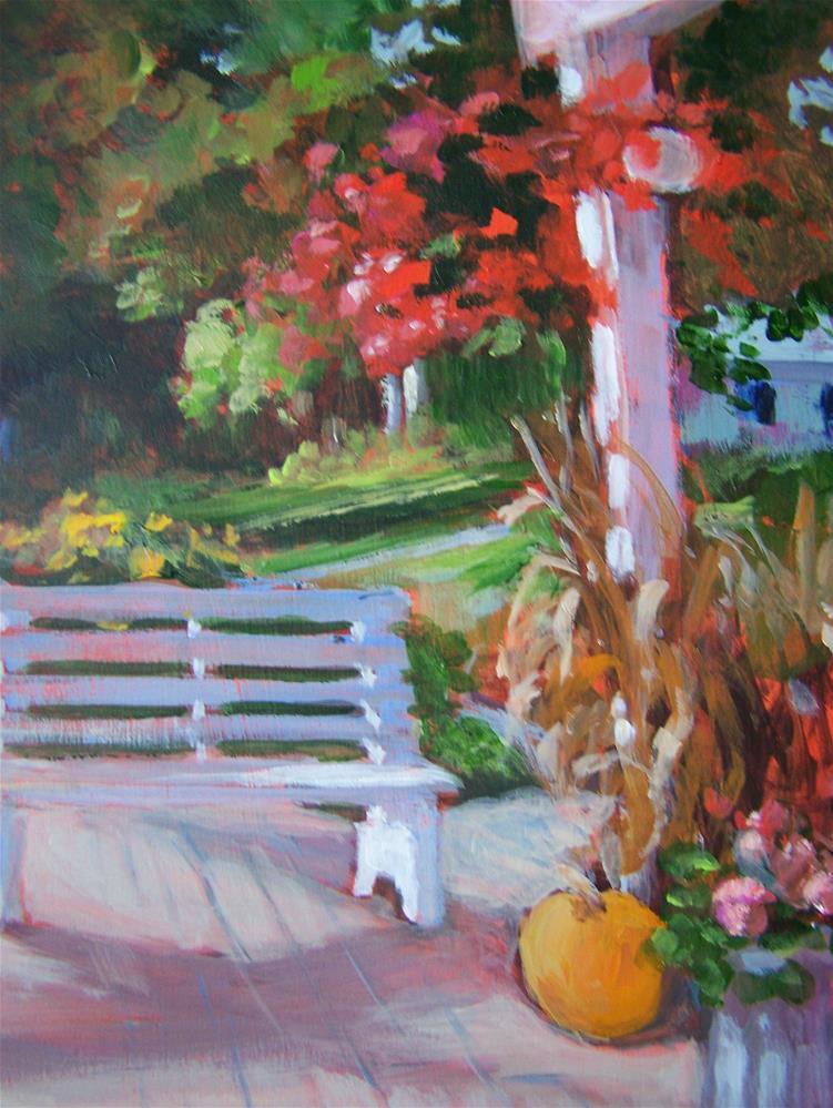 """Sit Awhile"" original fine art by Joan Reive"
