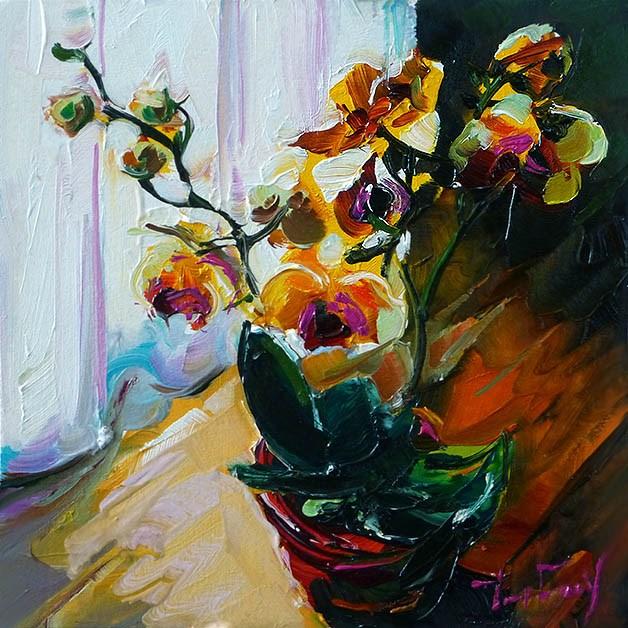 """""""Orchidee"""" original fine art by Jurij Frey"""