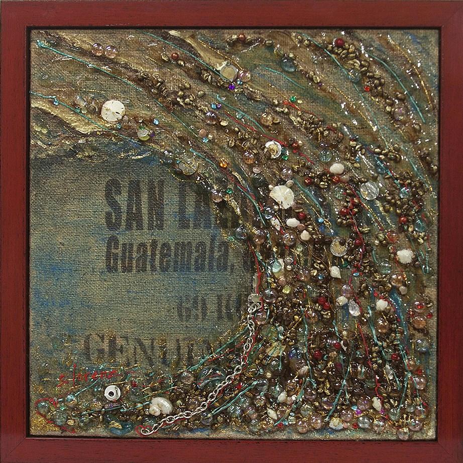 """Beancounter Blues"" original fine art by Sue Lorenz"
