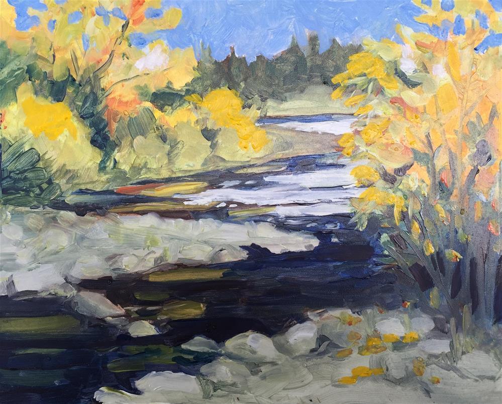 """Flood Plain"" original fine art by Sally Posner"