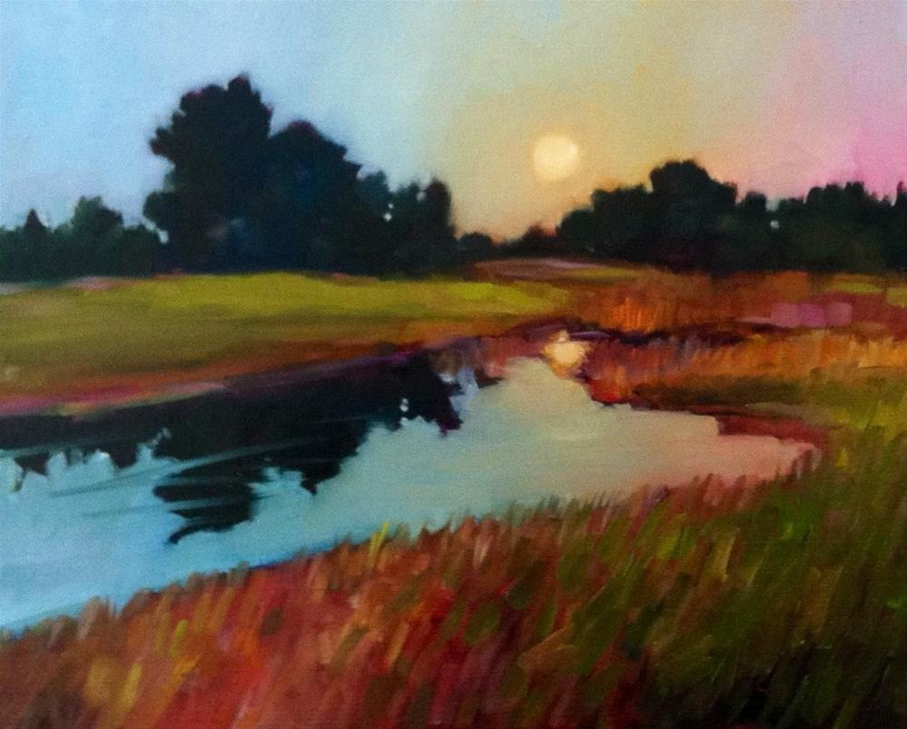 """""""Dawn on the Course"""" original fine art by Libby Anderson"""