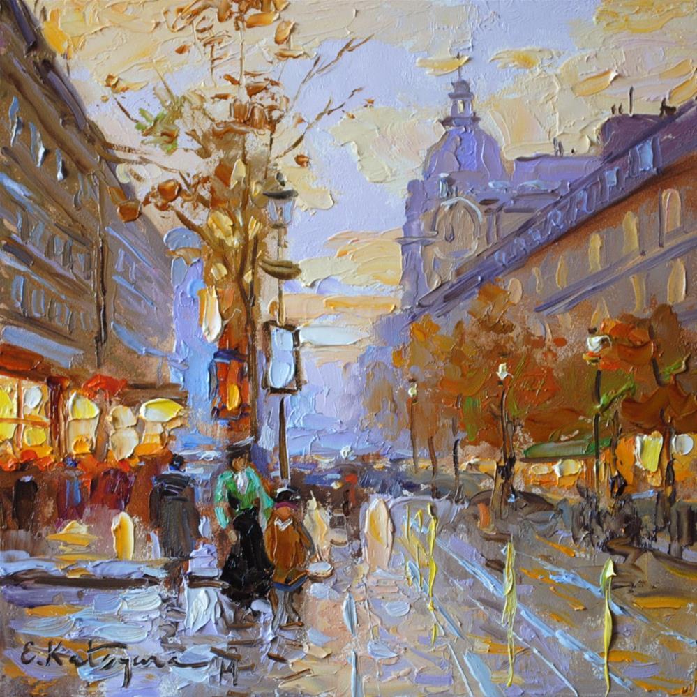 """Afternoon Avenue"" original fine art by Elena Katsyura"