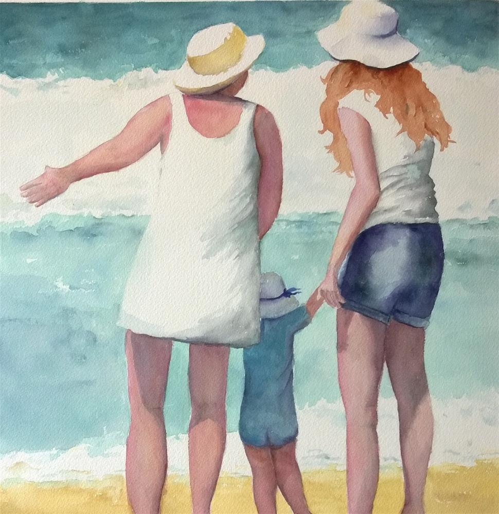 """First Day at the Beach"" original fine art by Crisynda Buss"