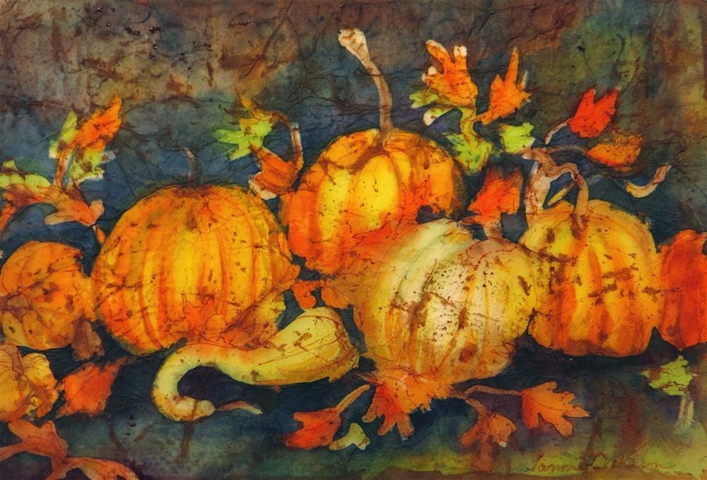 """Dance of the Pumpkins"" original fine art by Tammie Dickerson"