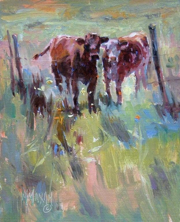 """Pasture Pals"" original fine art by Mary Maxam"