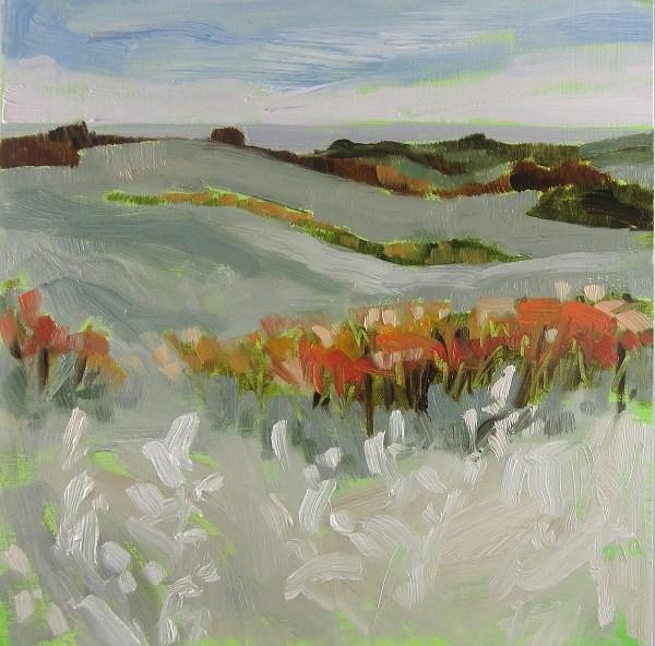 """Valley Road Wolf Willow"" original fine art by Nicki Ault"