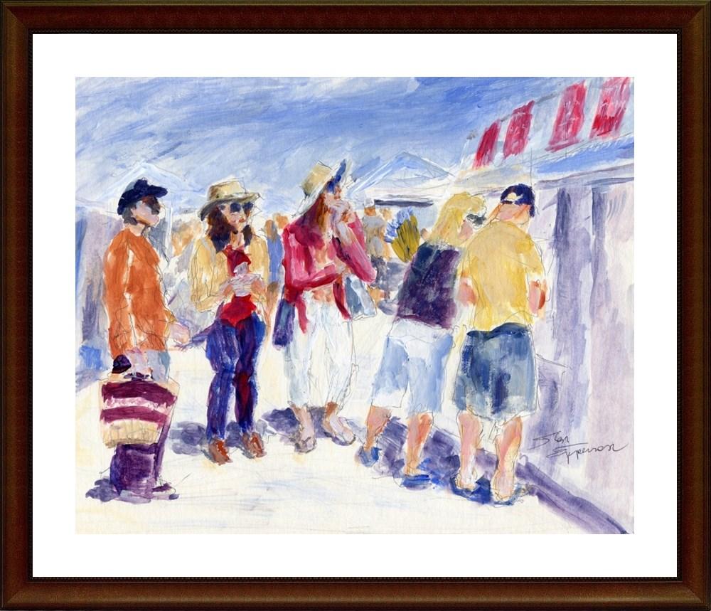 """""""Market Munchies"""" original fine art by Stanley Epperson"""