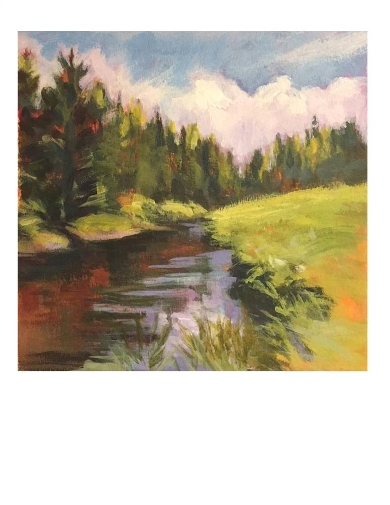 """Vermont Stream 2"" original fine art by Suzanne Woodward"