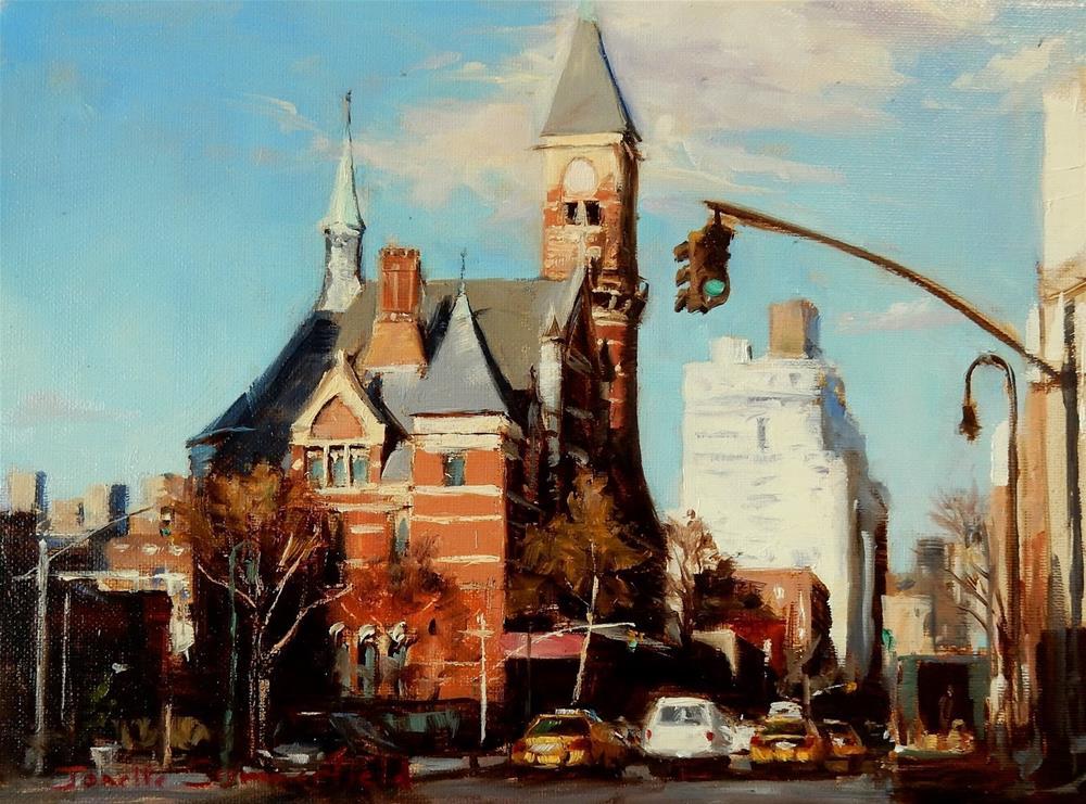"""""""Jefferson Market Library"""" original fine art by Jonelle Summerfield"""