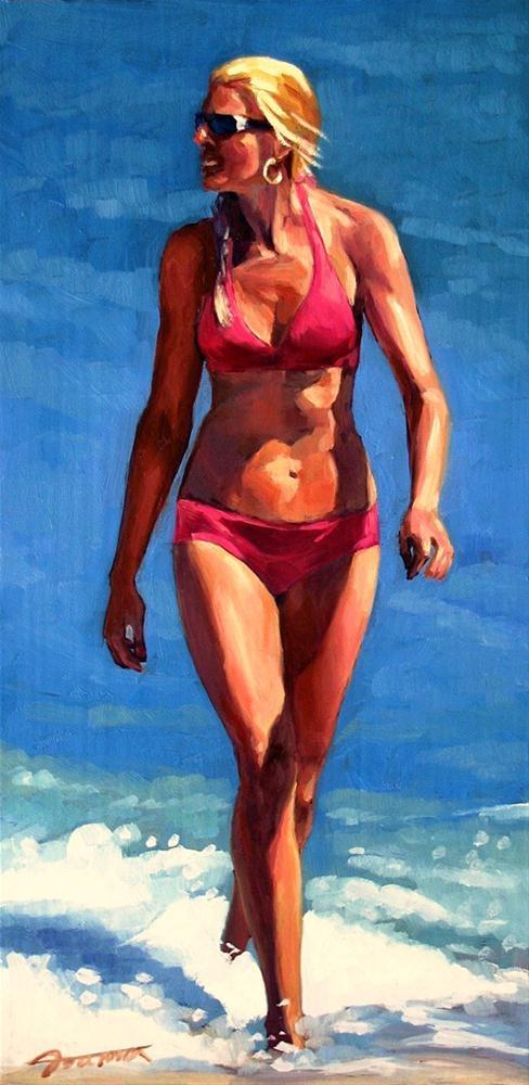 """Pink Bikini"" original fine art by Joanna Bingham"