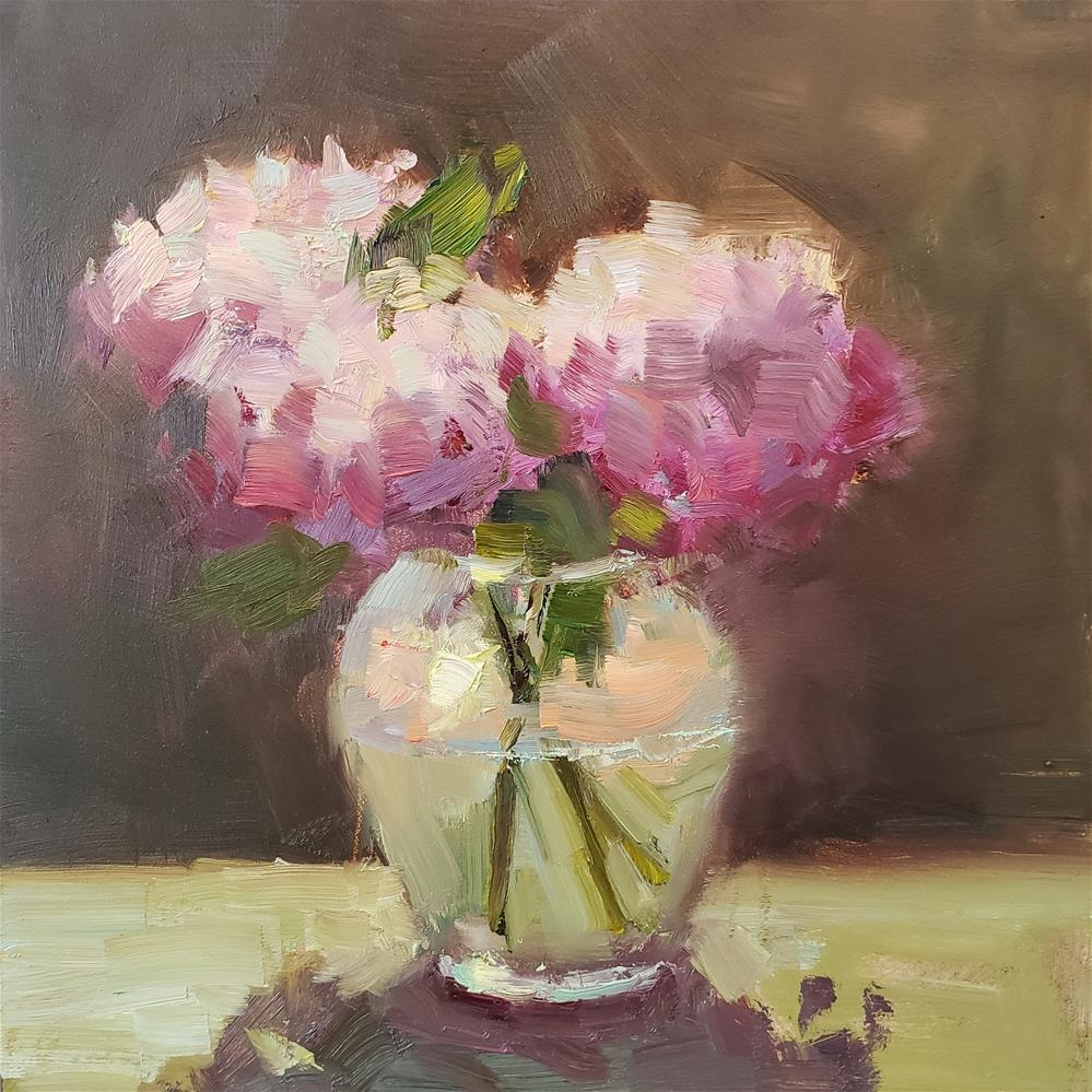 """Backlit Peonies"" original fine art by Barbie Smith"