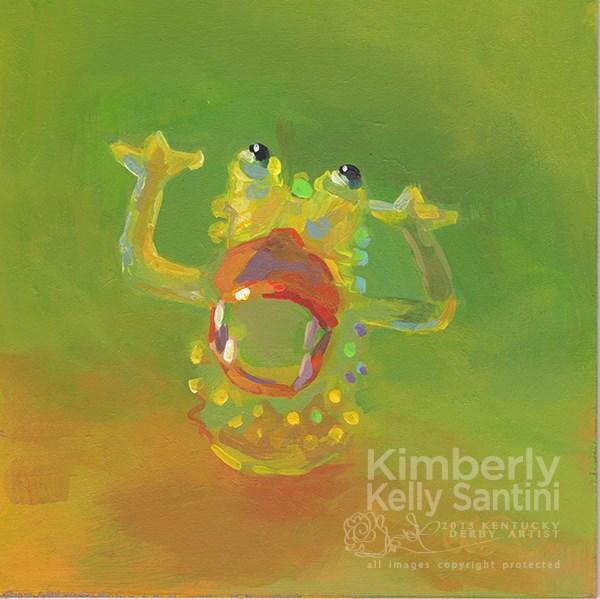 """Finger Puppet I, Toy #15"" original fine art by Kimberly Santini"