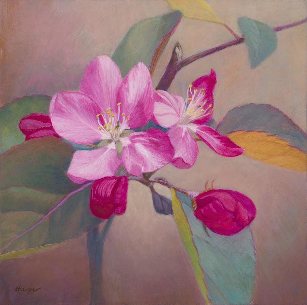 """Spring Blossoms"" original fine art by Nelia Harper"