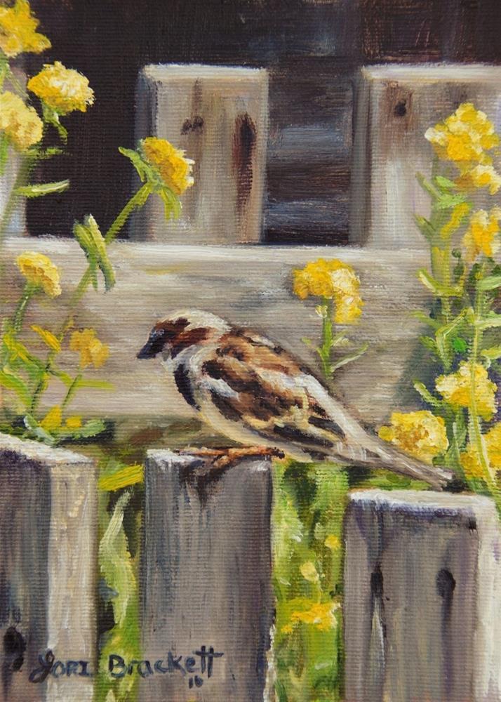 """Nevada City Garden"" original fine art by Lori Brackett"