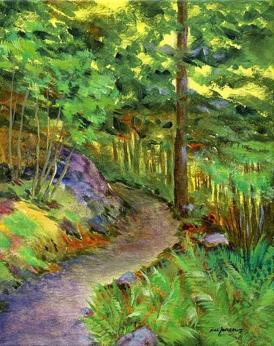 """Appalachian Trail"" original fine art by Sue Furrow"