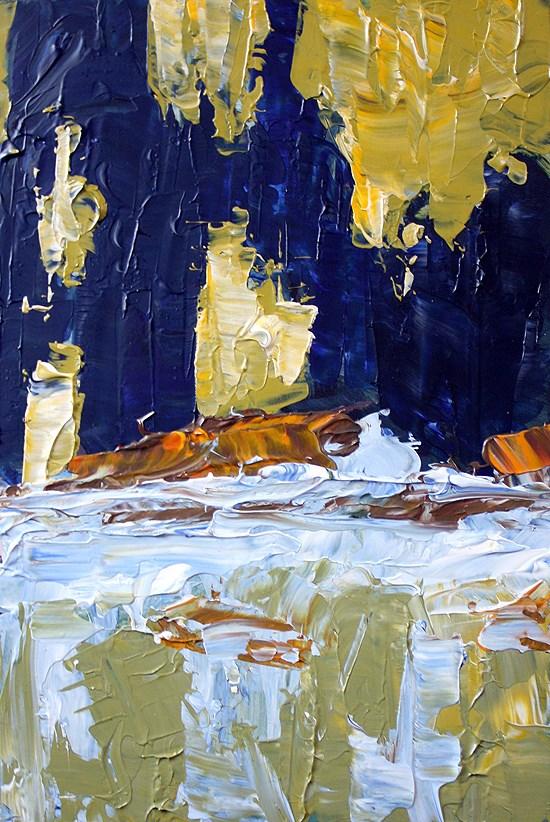 """River Abstract"" original fine art by J. Farnsworth"