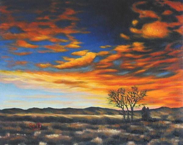 """Standing in the Glow"" original fine art by Carol Zirkle"