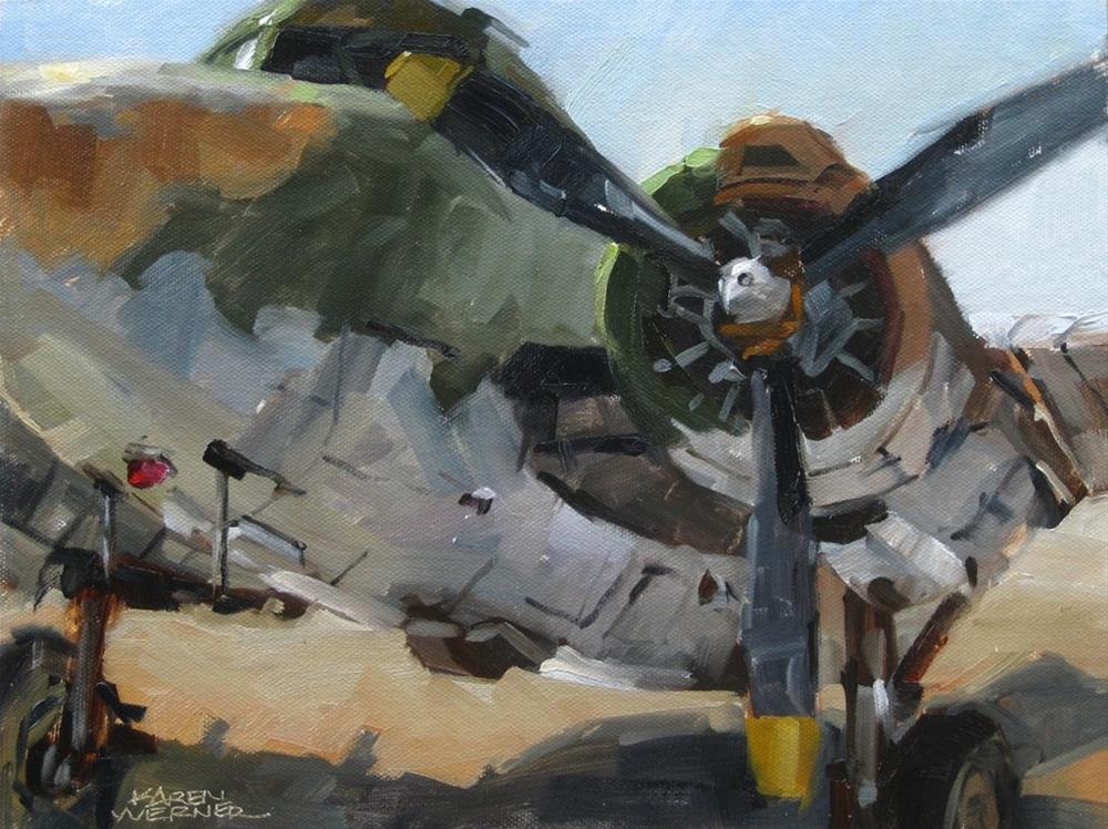 """""""Lockheed Lodestar"""" original fine art by Karen Werner"""