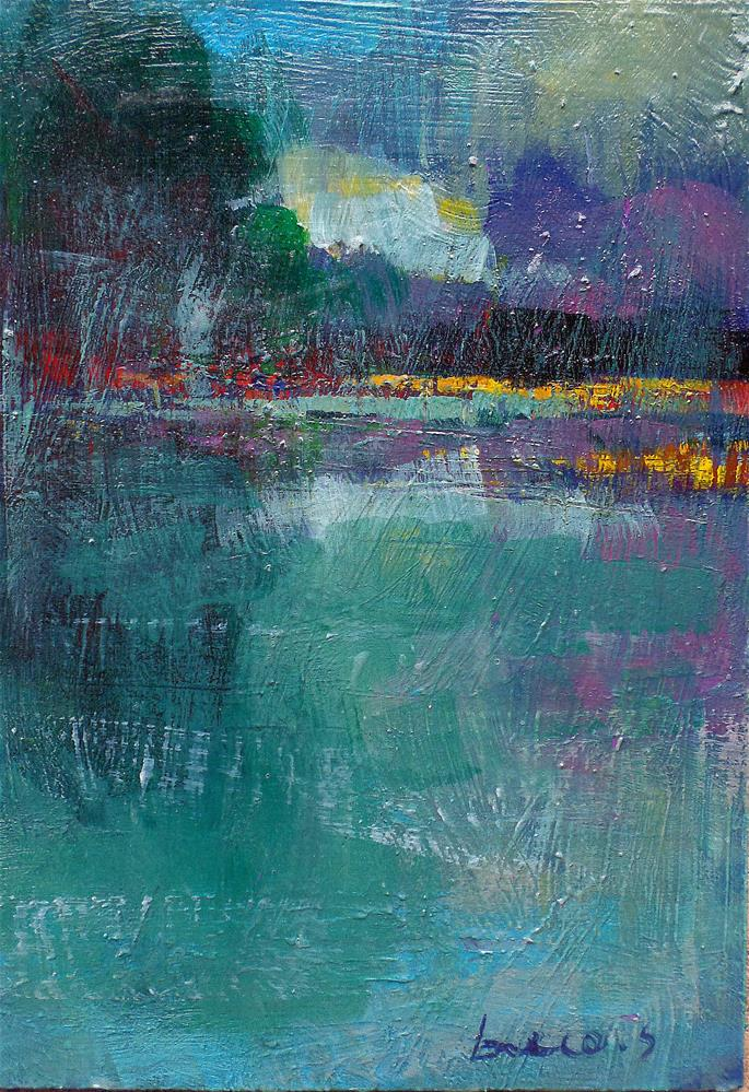 """Mist on the pond"" original fine art by salvatore greco"