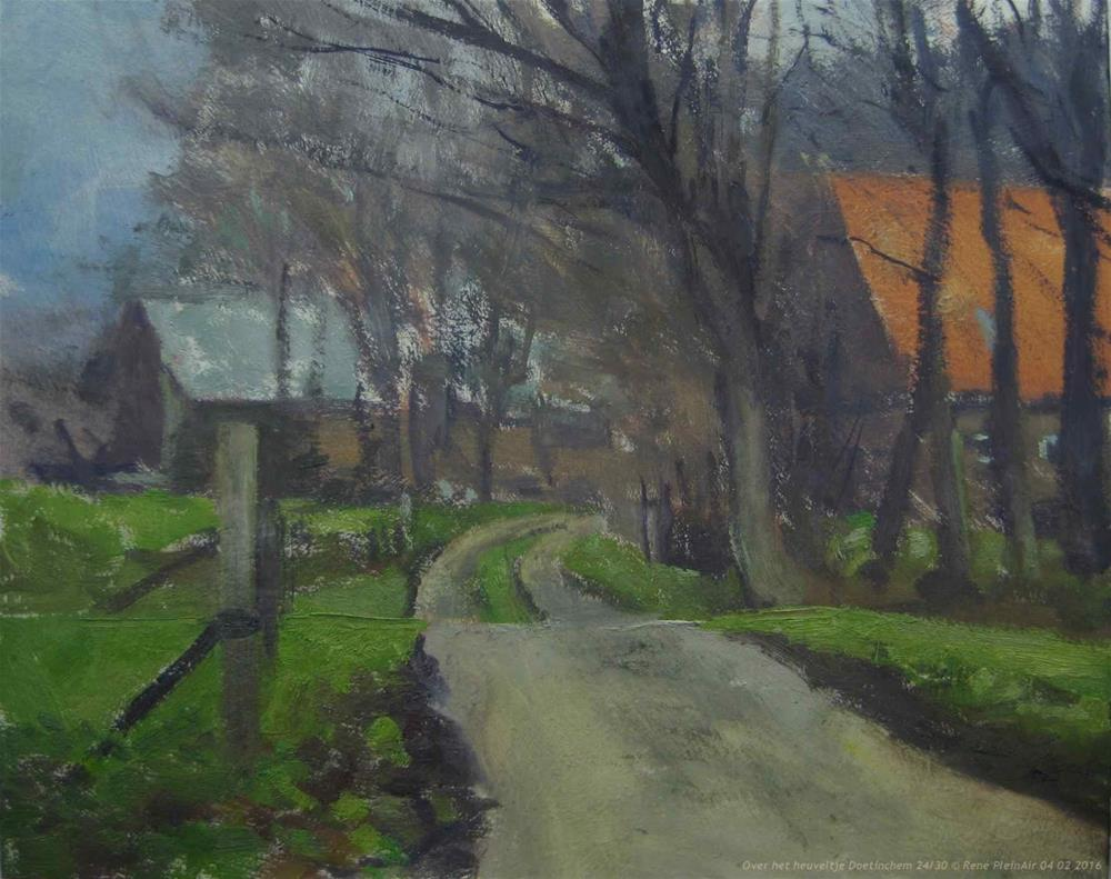 """Over het heuveltje. Doetinchem, The Netherlands"" original fine art by René PleinAir"