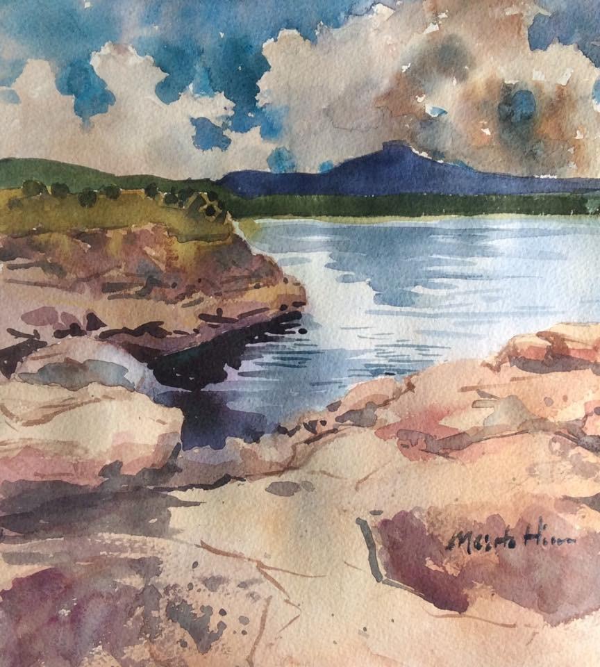 """""""Abiquiu Lake"""" original fine art by Marita Hines"""