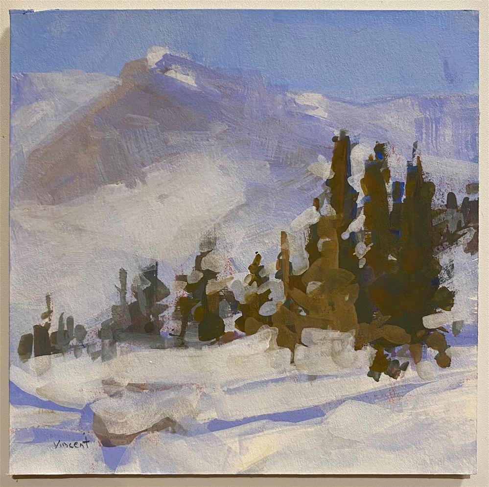 """Backdrop "" original fine art by Patti Vincent"