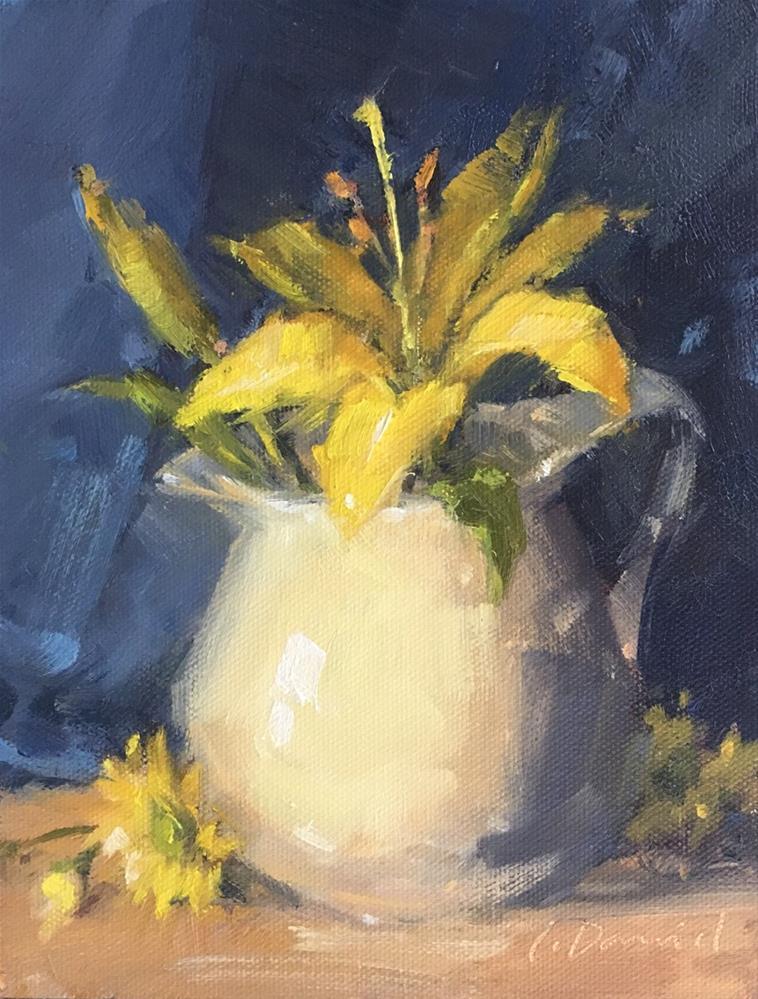 """Garden Cuttings - and a process demo"" original fine art by Laurel Daniel"