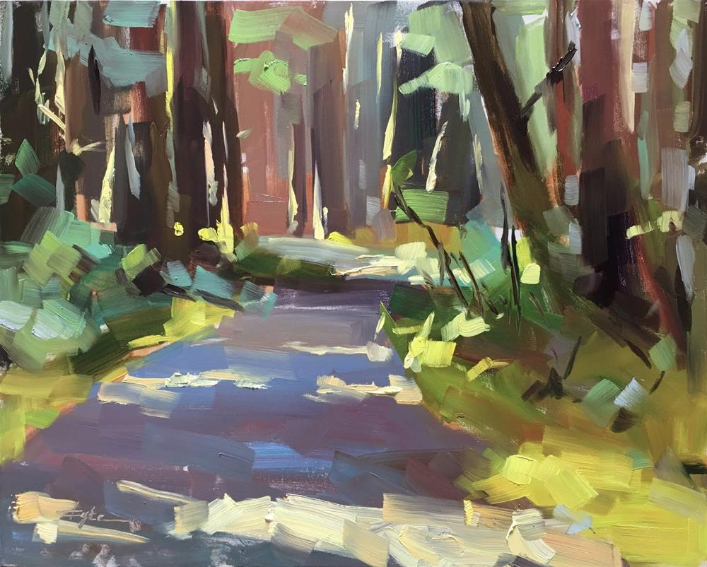 """""""In the Forest"""" original fine art by Katia Kyte"""