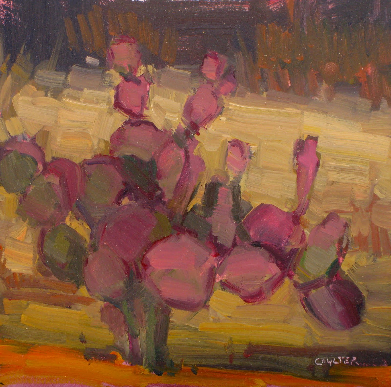 """PURPLE PRICKLY"" original fine art by James Coulter"