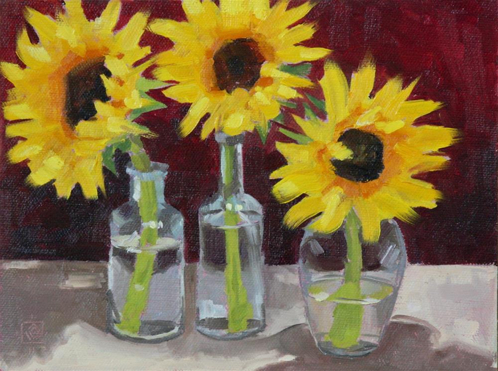 """Sun And Glass"" original fine art by Carol Granger"