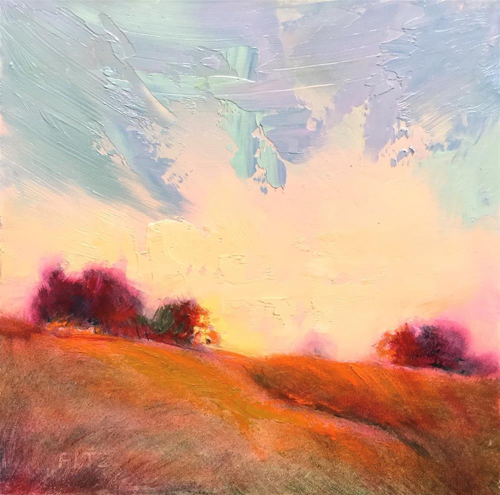 """Impasto Landscape 96"" original fine art by Charlotte Fitzgerald"