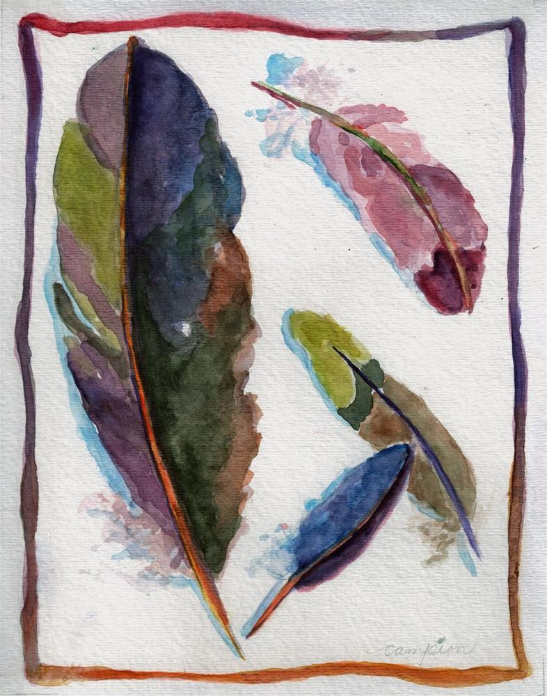 """""""373 Subtle Shimmer"""" original fine art by Diane Campion"""