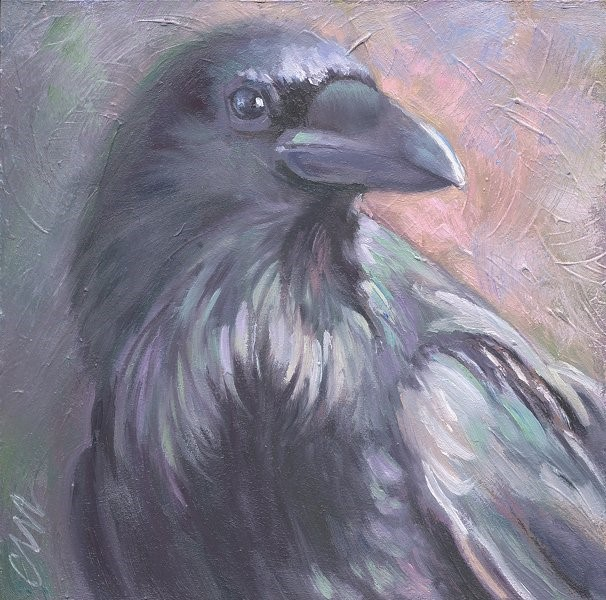 """Raven"" original fine art by Connie McLennan"
