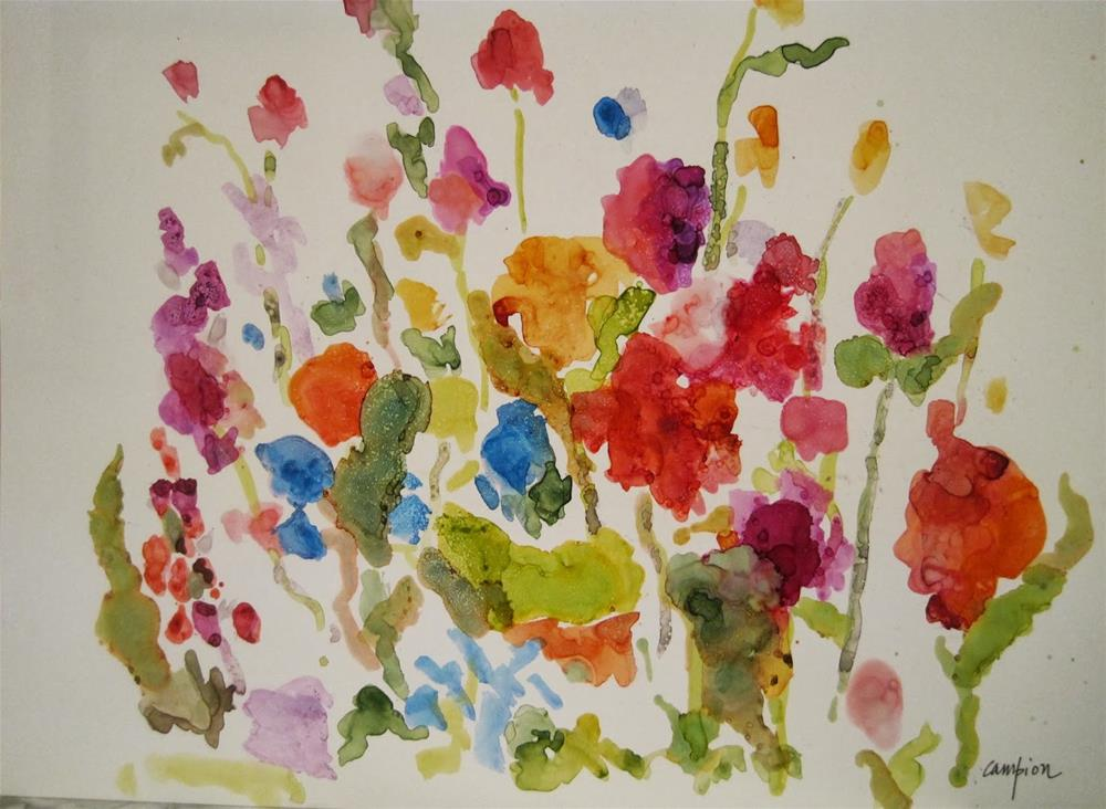 """""""306. Garden 1"""" original fine art by Diane Campion"""