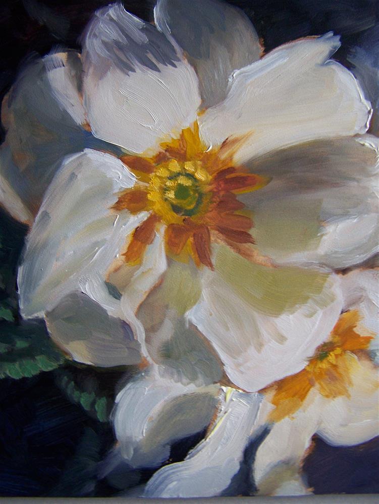 """Primrose #2"" original fine art by Joan Reive"