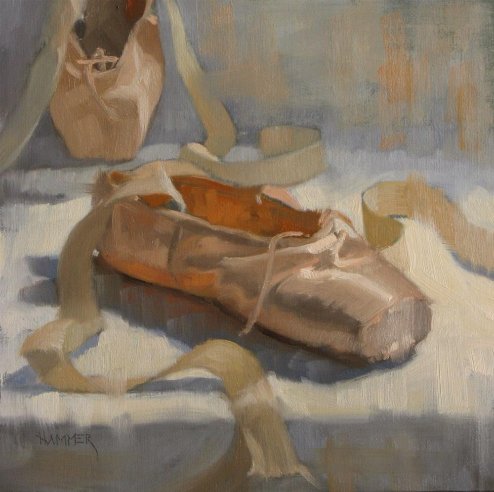 """One and a half ballet shoes"" original fine art by Claudia Hammer"