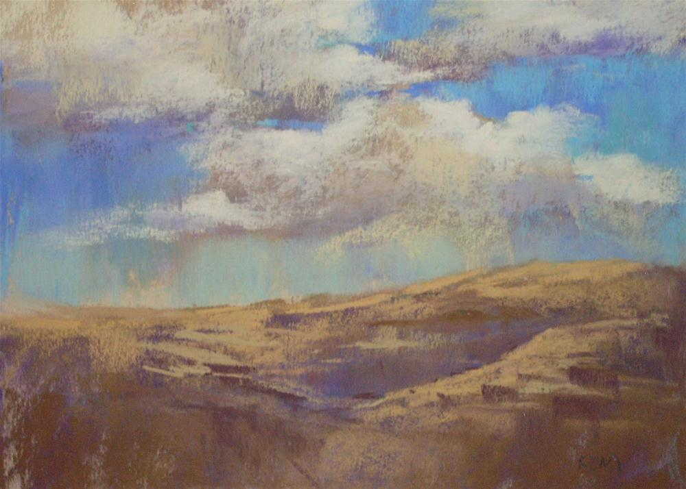 """Make Sure the Earth Talks to the Sky...Painting Clouds"" original fine art by Karen Margulis"