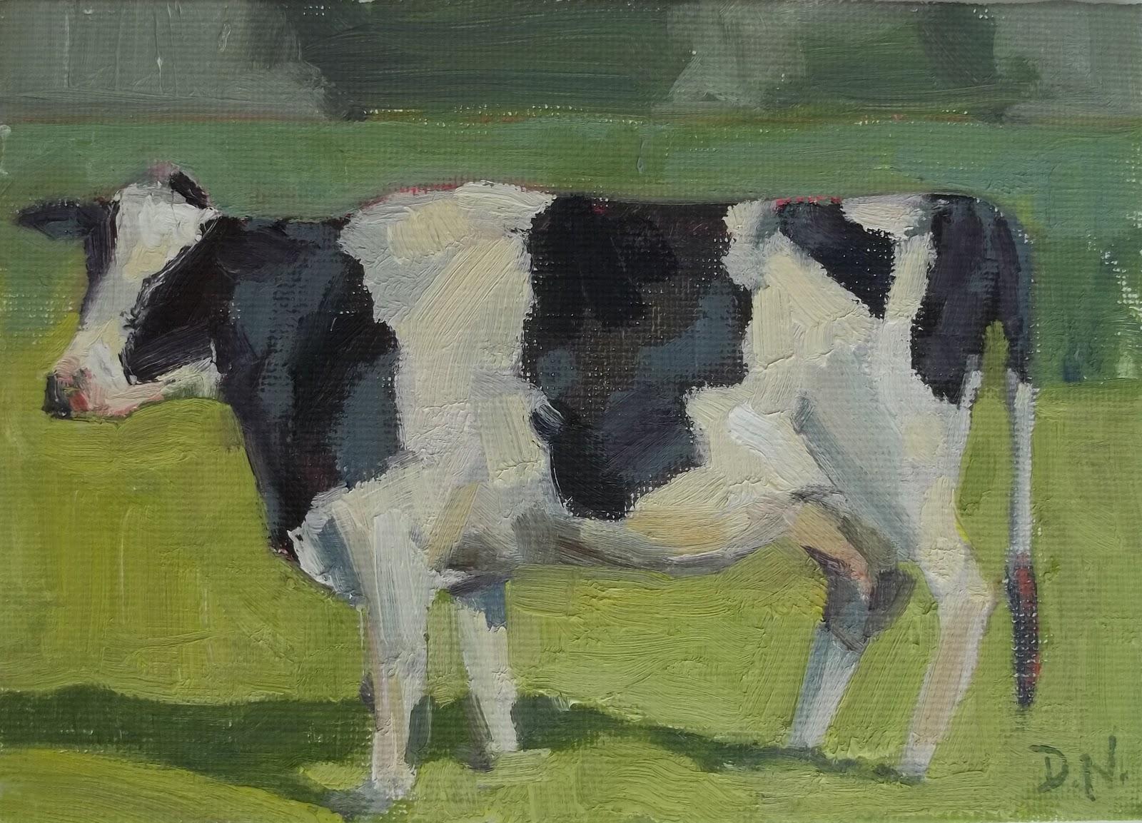 """Holstein"" original fine art by Deborah Newman"