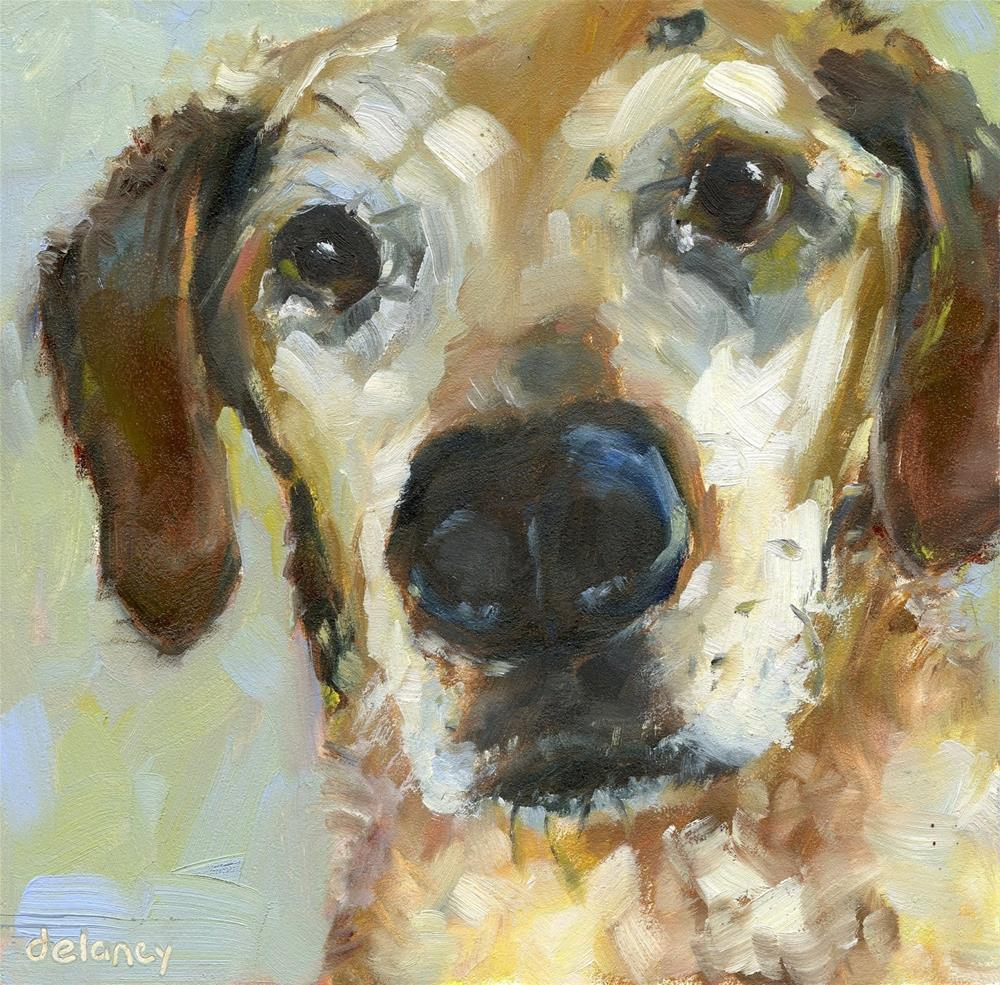 """""""PET PORTRAIT"""" original fine art by Jean Delaney"""