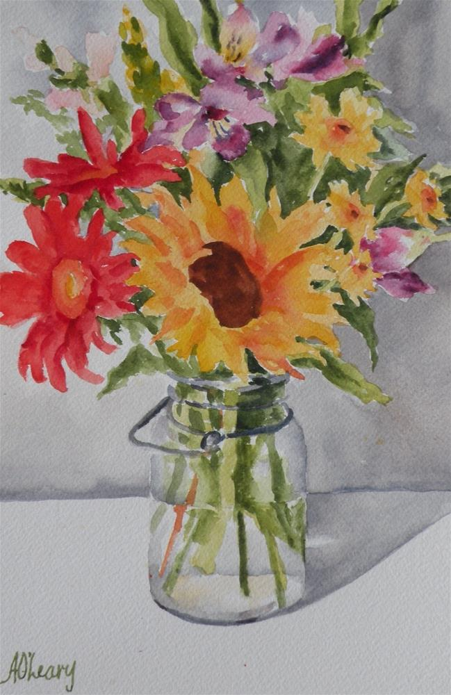 """Jar of Sunshine"" original fine art by Alice O'Leary"