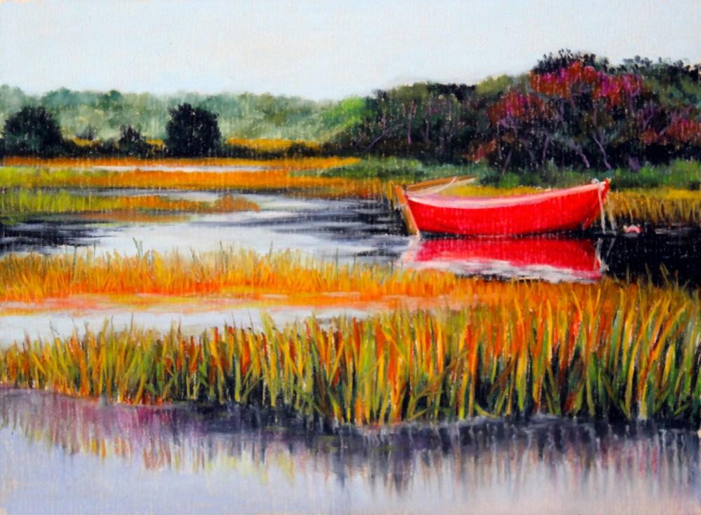 """Herring River"" original fine art by Jill Bates"