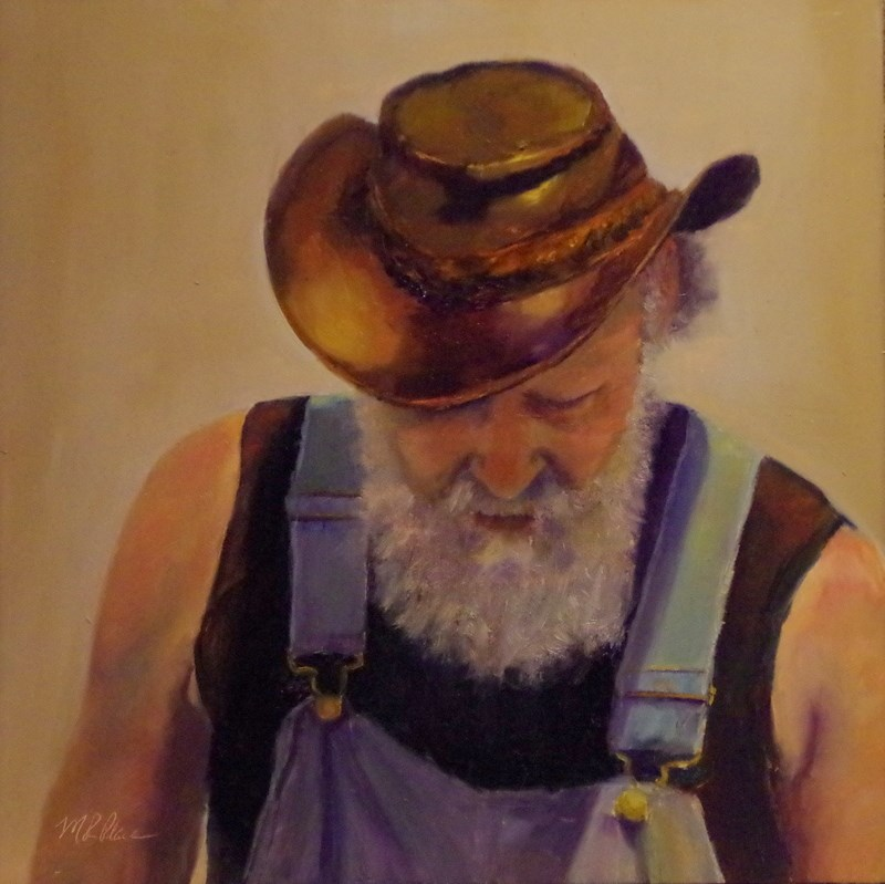 """""""A Fine Leather Hat"""" original fine art by Marilyn R. Place"""