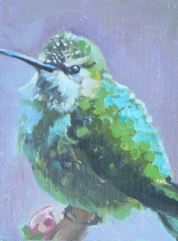 """""""Hummingbird"""" original fine art by Leigh Buchanan"""