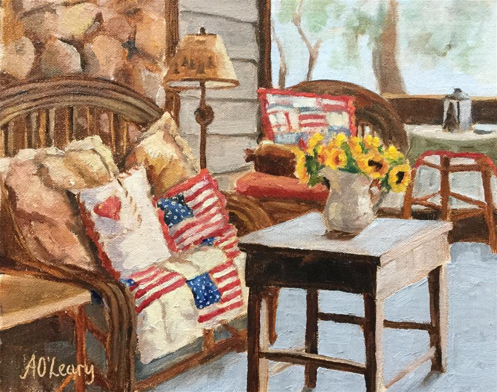 """""""Sunlit Quilt"""" original fine art by Alice O'Leary"""